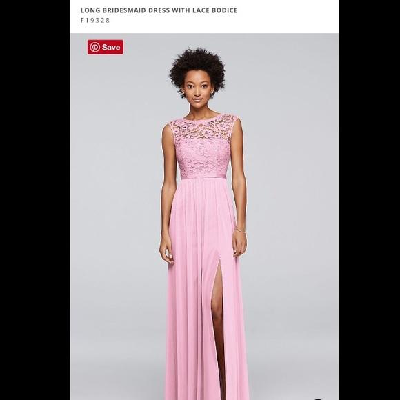 Sale David S Bridal Lace Bodice Bridesmaid Dress